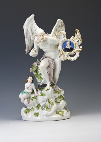 A Meissen watch stand figure of Cronus, circa 1745.