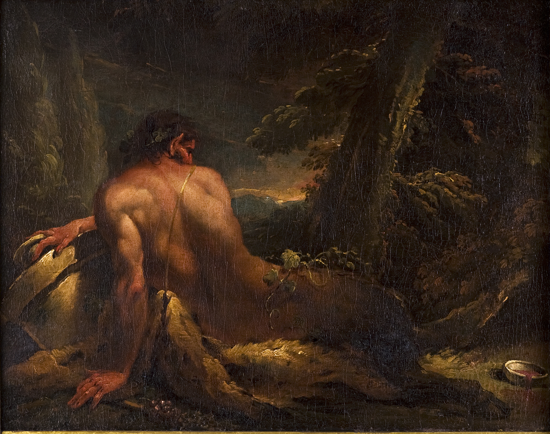 Attributed to Gaspare Diziani (1689–1767),</br> 'A Reclining Satyr.'