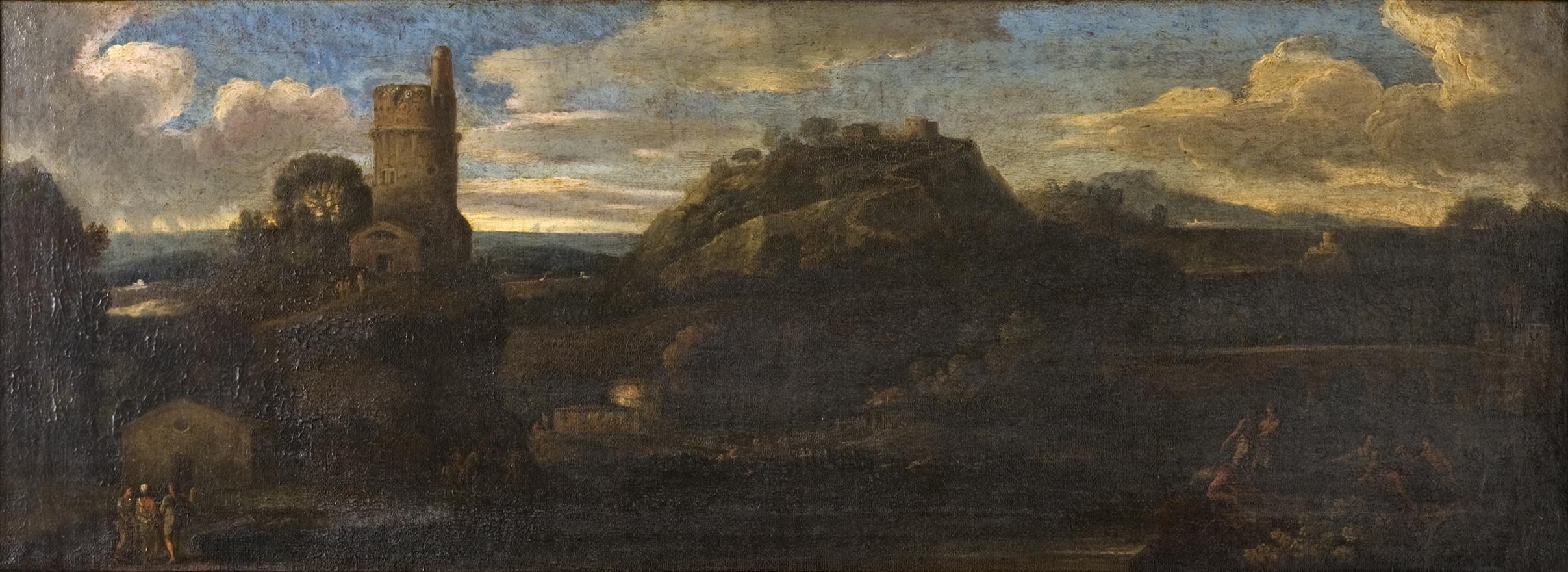Giovanni Francesco Grimaldi (1606-1680),</br> 'A Classical Landscape.'