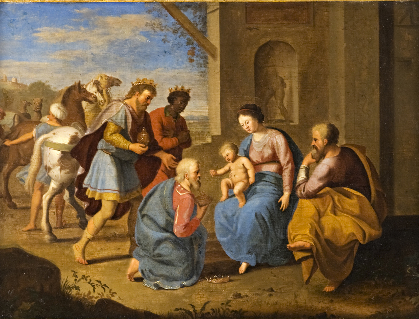 Circle of  Jan van Haensbergen (1642-1705), </br>'The Adoration of the Magi.'