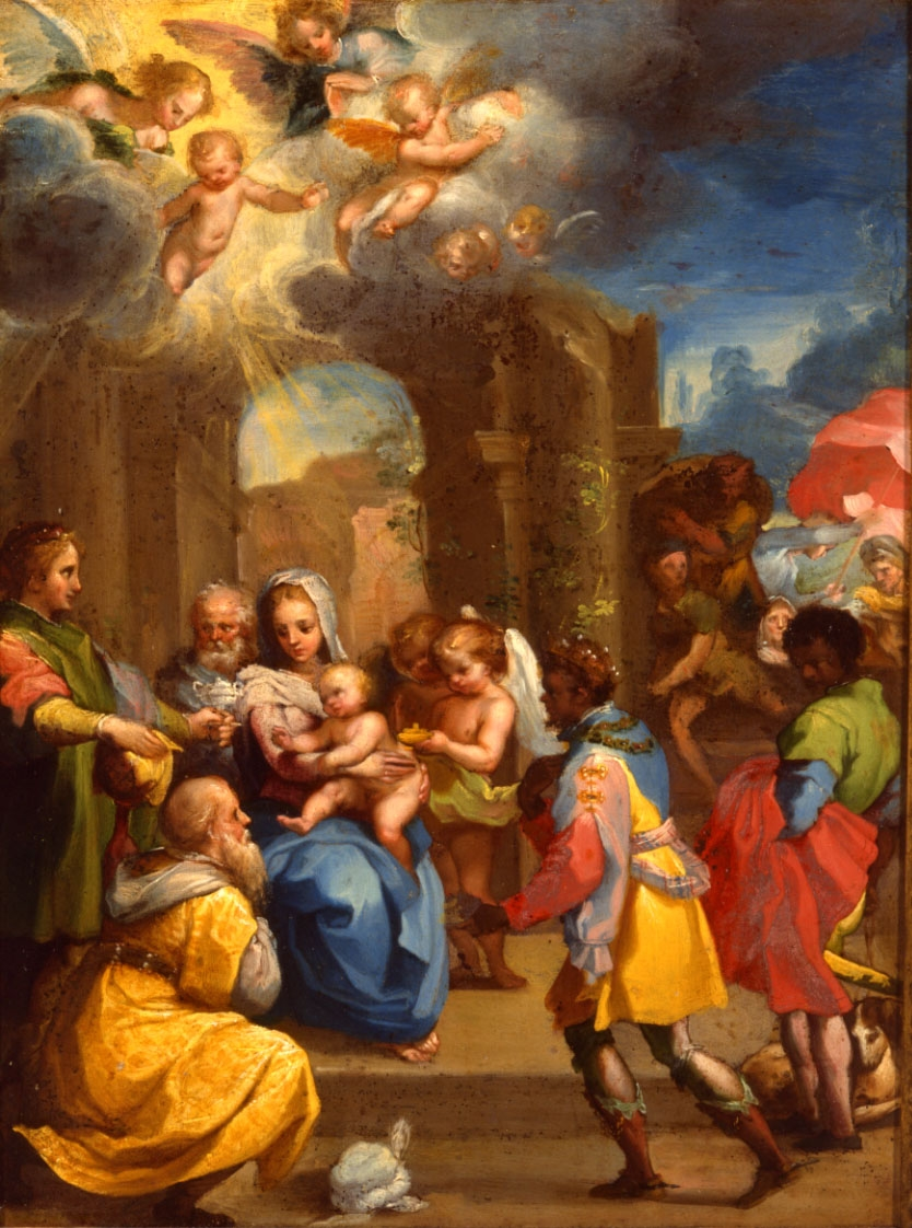 Ventura Salimbeni, Il Bevilacqua (1568-1613) </br>'The Adoration of the Magi.'