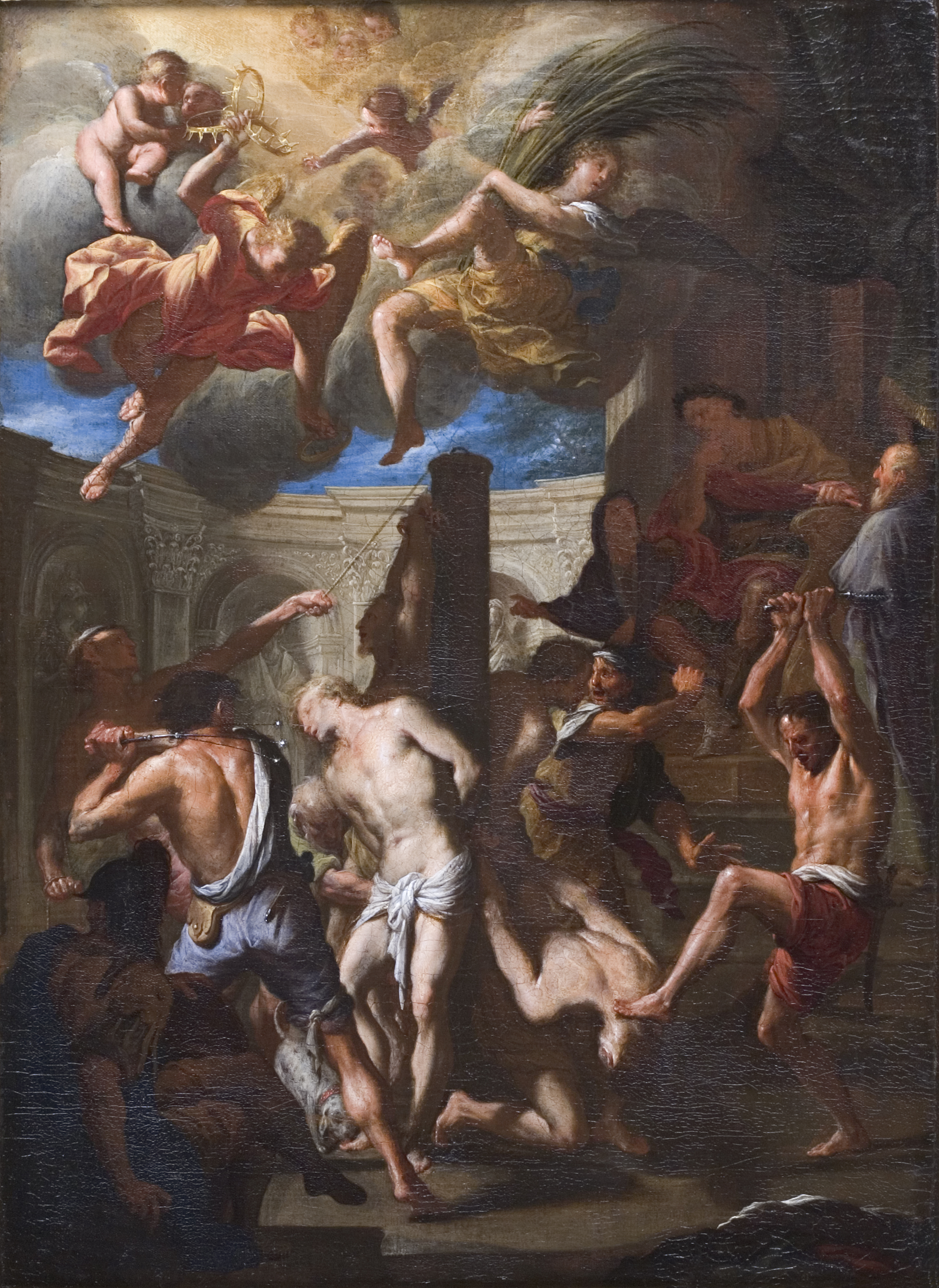 Attributed to Francesco Trevisani (1656-1746)  </br>&#8216;The Martyrdom of Four Saints.&#8217;