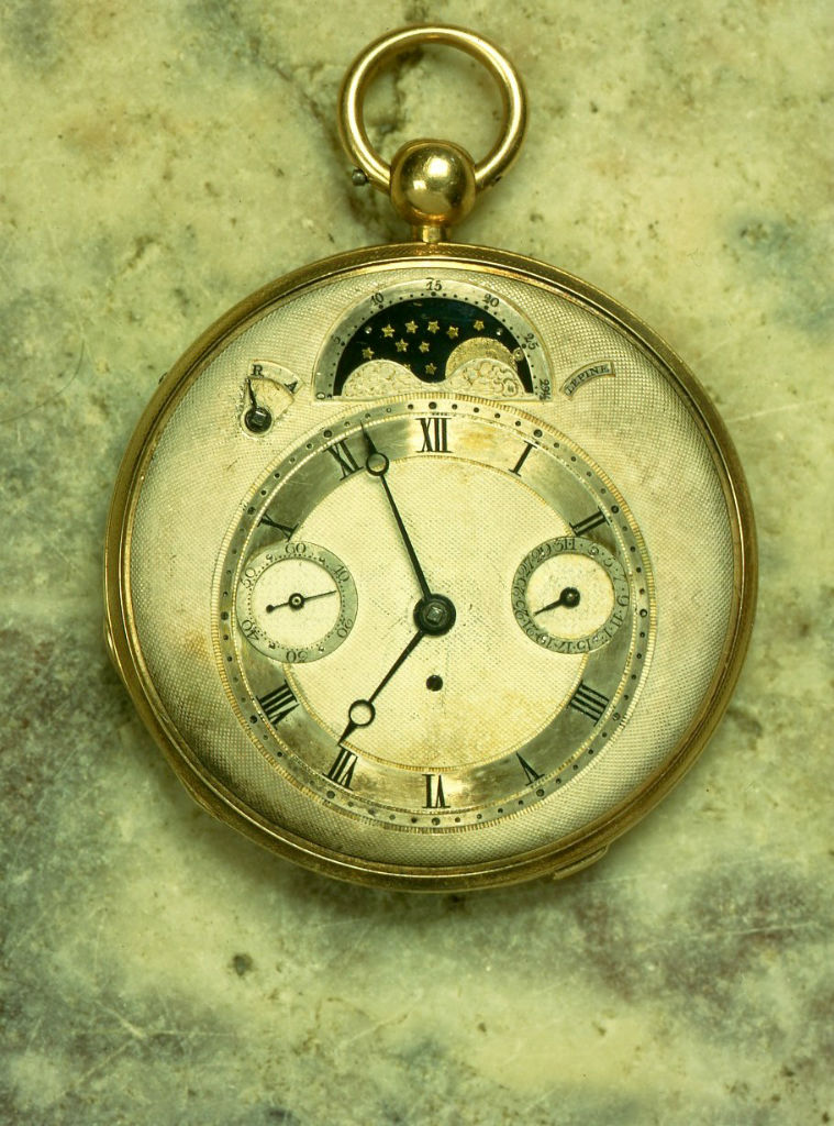 Lepine, no. 2460. A gold half quarter repeating calendar lever watch, circa 1810.