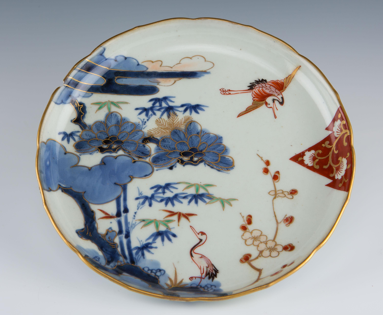 A Japanese Imari saucer dish, 18th Century.