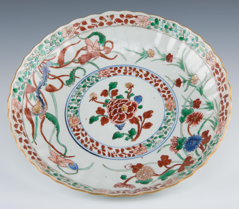 A famille verte saucer dish, Kangxi, (1662-1722).