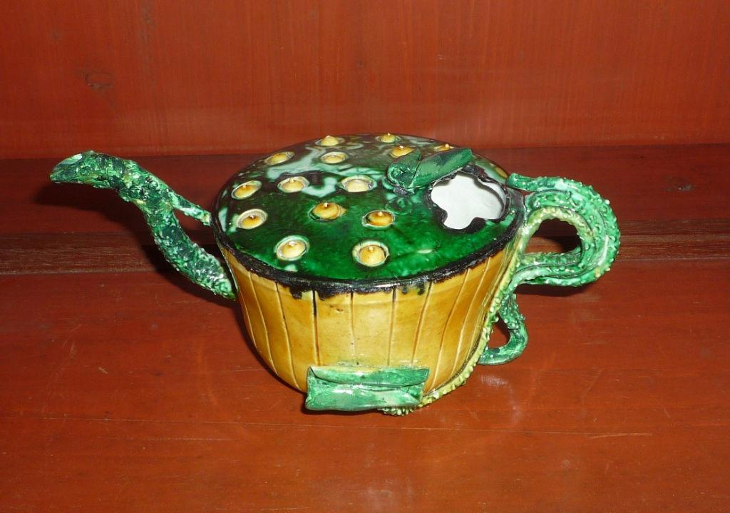A biscuit porcelain ewer, Kangxi, (1662-1722).