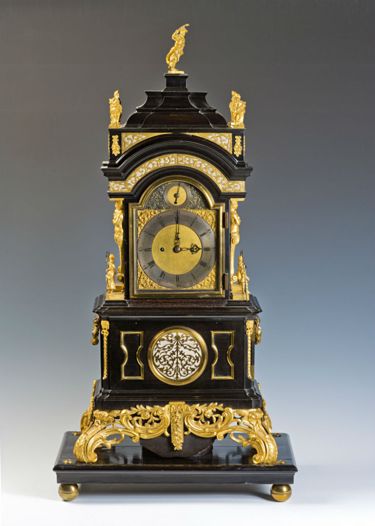 An early 18th Century ormolu mounted ebony clock case.