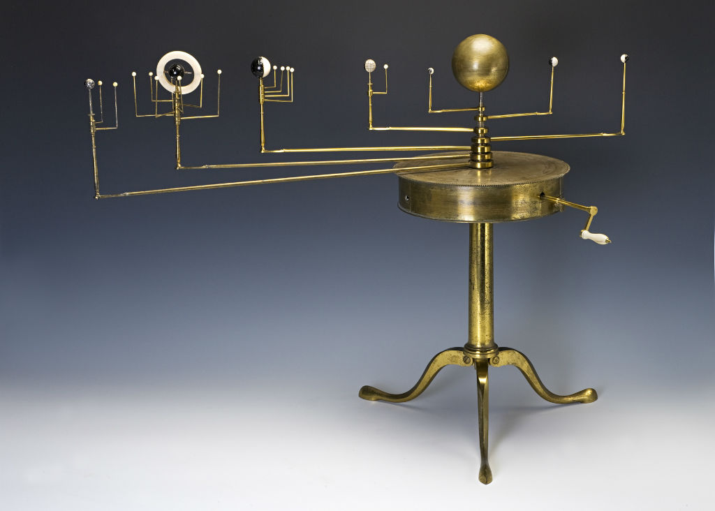 A W. & S. Jones brass Planetarium, London, circa 1800.