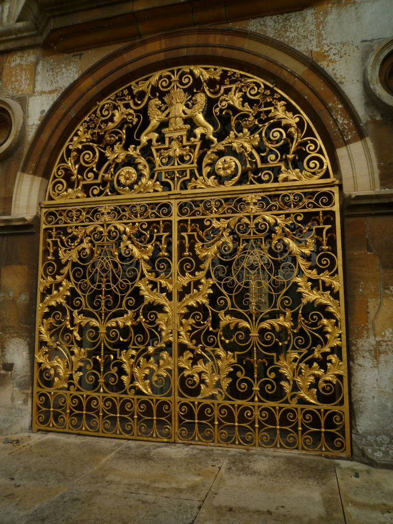An extremely fine pair of wrought iron gates, by Jean Tijou, late 17th century.