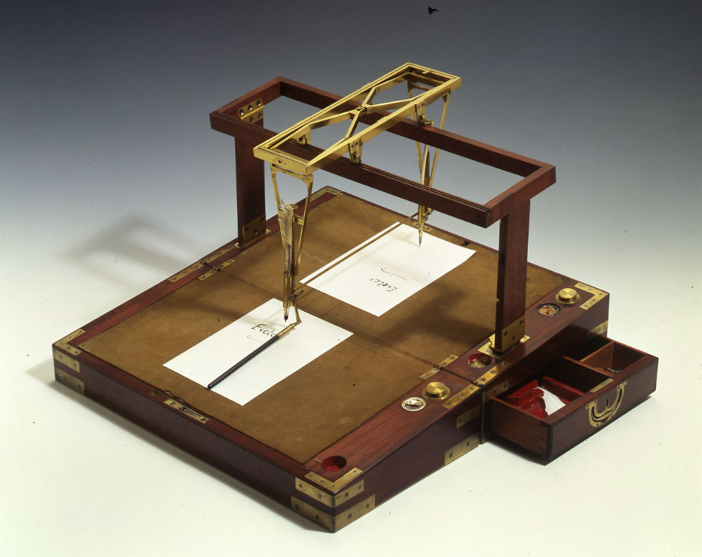 A Brunel double writing machine, English, circa 1800.