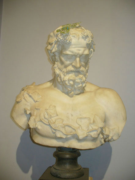 An Italian white marble bust of Silenus,  late 17th Century.