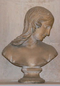 A plaster bust of the Magdalene, 19th Century.