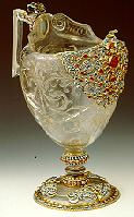 A rock crystal ewer, Italian, Miseroni workshop, circa 1600.