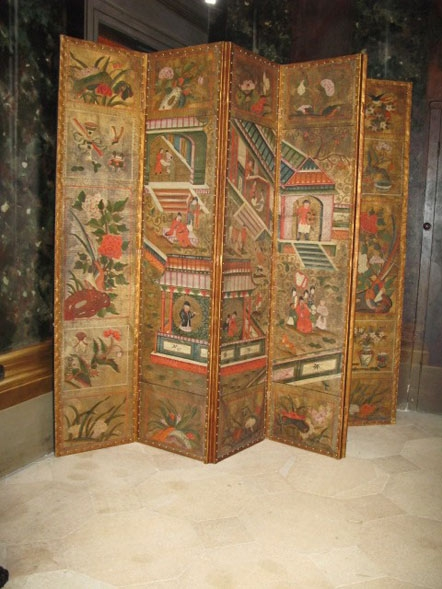 A late 17th Century six-fold leather screen, circa 1700.