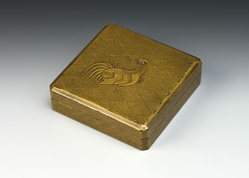A shallow square box and cover, 18th Century.