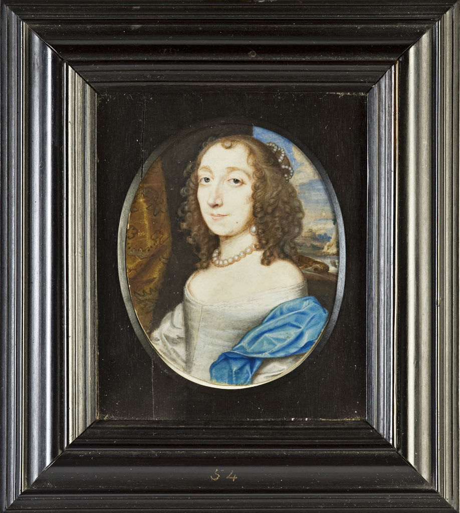 Elizabeth, Countess of Exeter, nee Egerton, by John Hoskins (1590-1665).