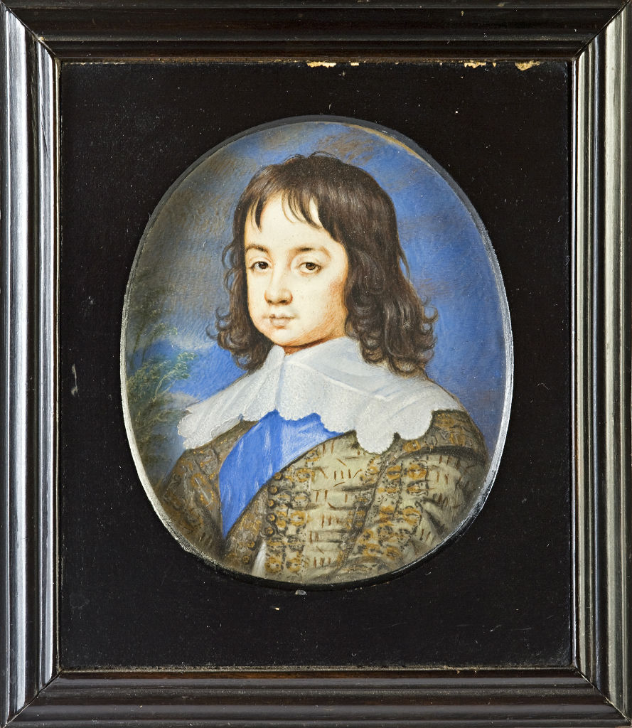 Charles II, as a young boy, Studio of John Hoskins, circa 1640.