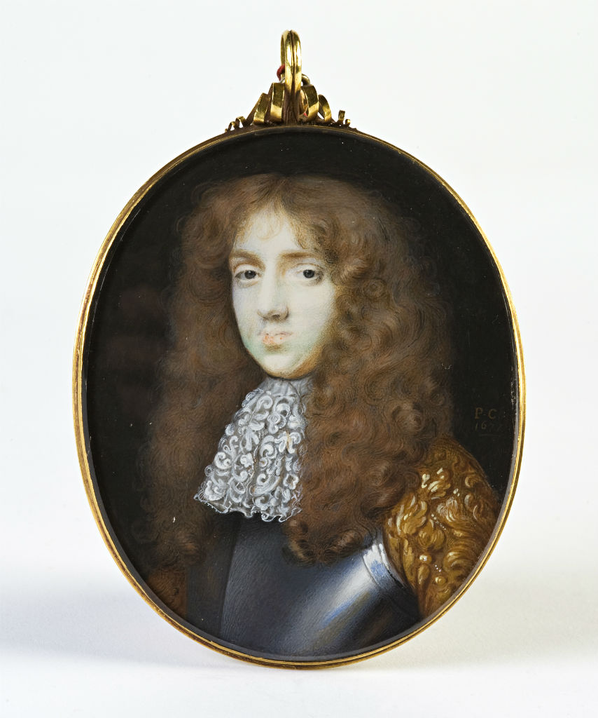 John, 5th Earl of Exeter, by Peter Cross, signed with initials and dated 1677.