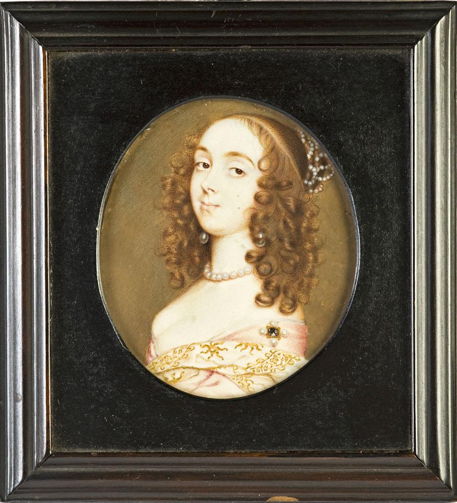 Anne Kirk(e) by John Hoskins (1590-1665).