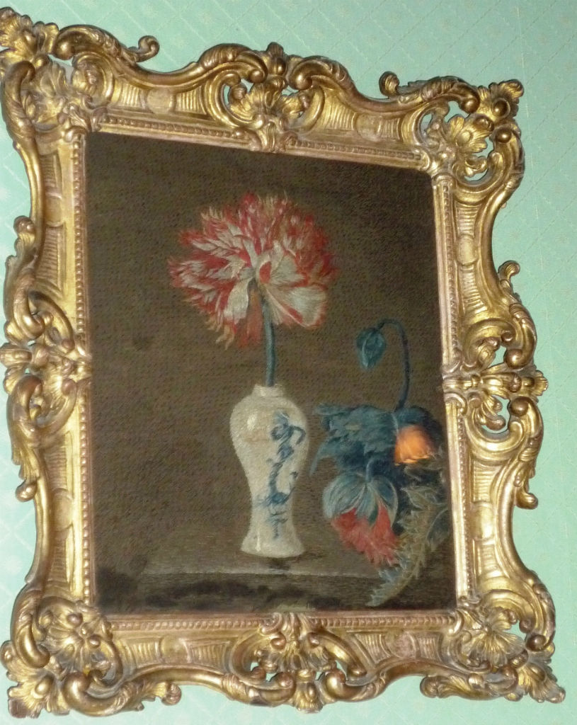 A woolwork still-life, by Anne Wentworth, late 18th or early 19th Century.