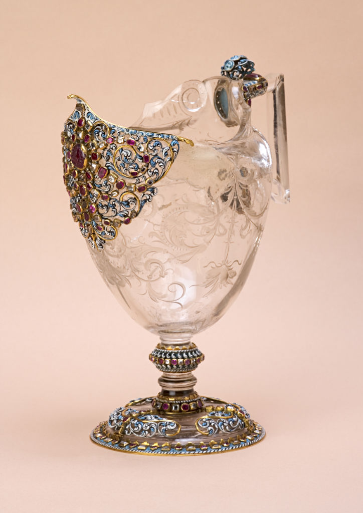 A rock crystal ewer, Italian, Miseroni workshop, circa 1600.