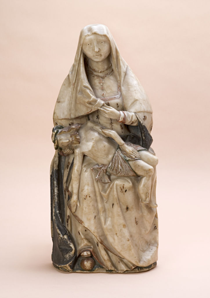 An alabaster relief of the Pieta, early 16th Century.
