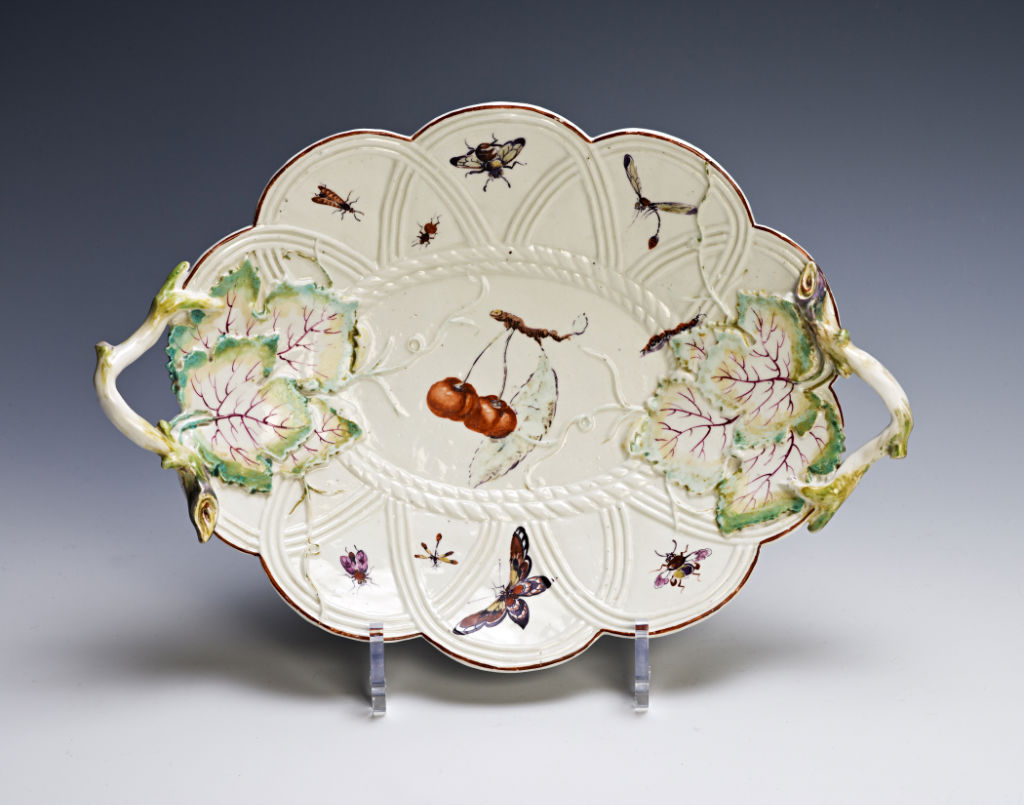 A Derby basket-shaped dish, circa 1765/70.
