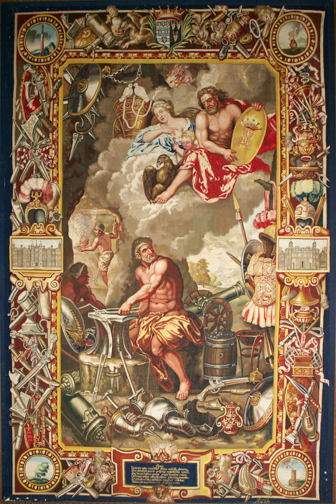 One of the Soho 'Elements' Tapestries, by John Vanderbank, after Charles Le Brun, circa 1685.