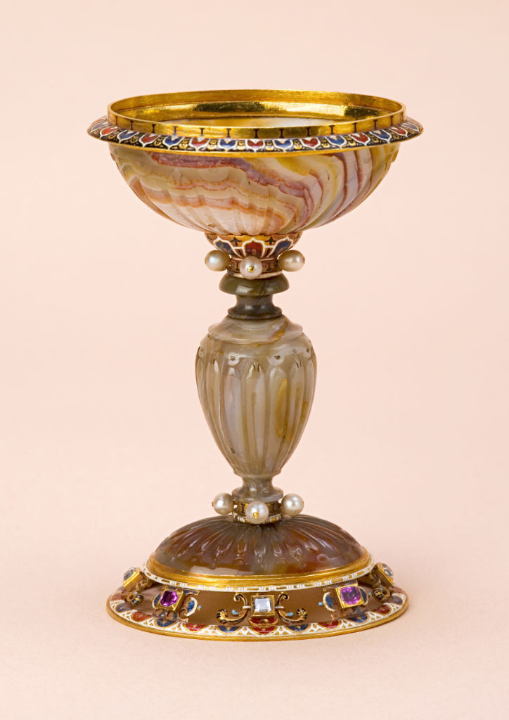 An Italian gold, enamel and gem-set mounted standing bowl, probably Milanese, late 16th Century.
