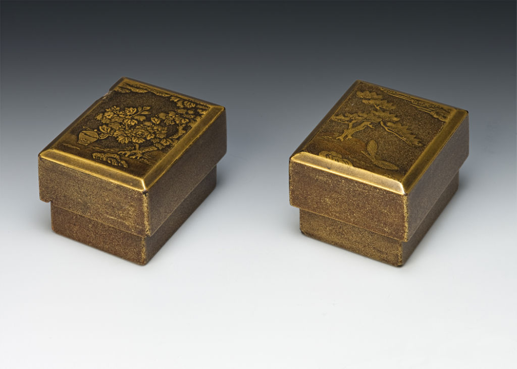 A pair of rectangular boxes for incense selection, late 17th/mid18th Century.