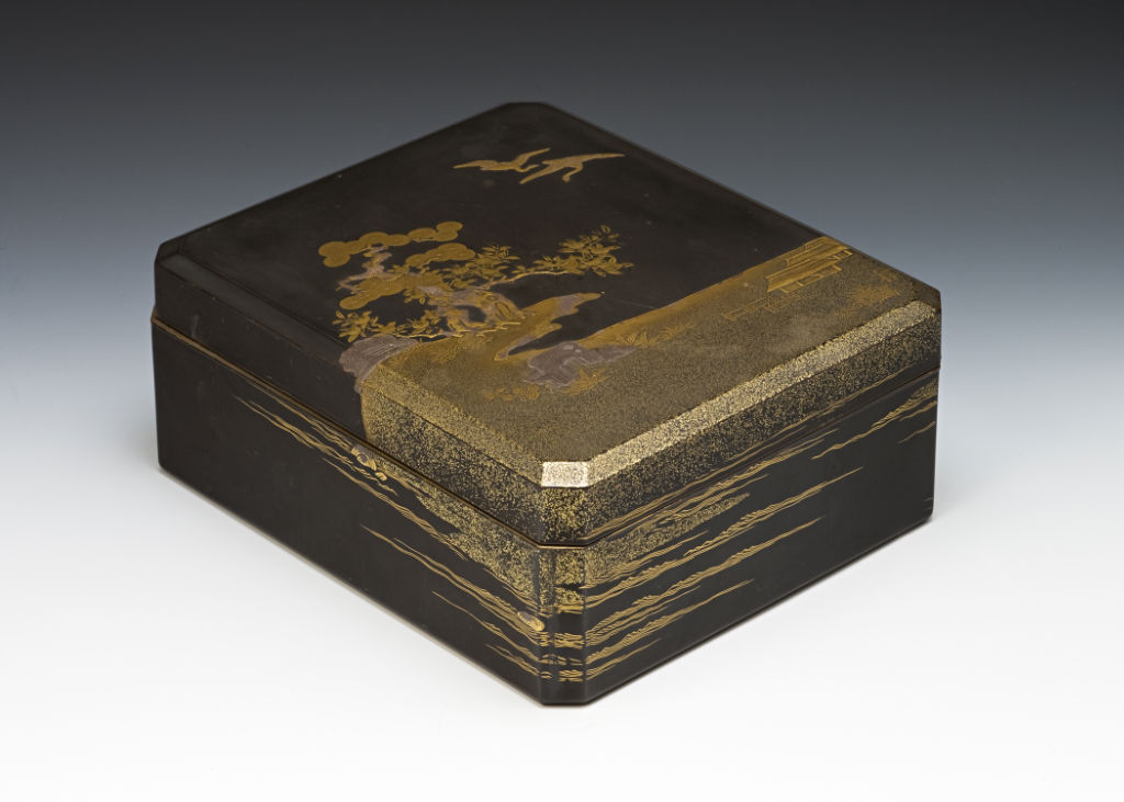 A lacquer box and cover, late 17th Century.