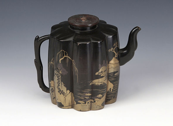 An export lacquer ewer, late 17th Century.