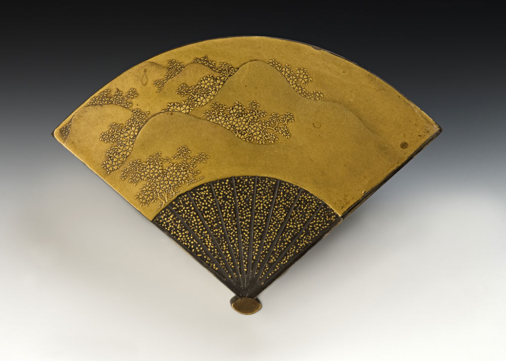 A fan-shaped incense container, late 18th Century.