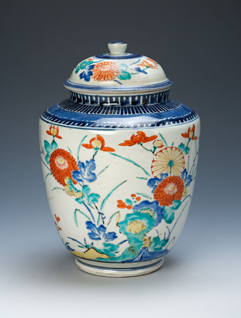 A pair of jars and covers, Japanese, circa 1680/1700.