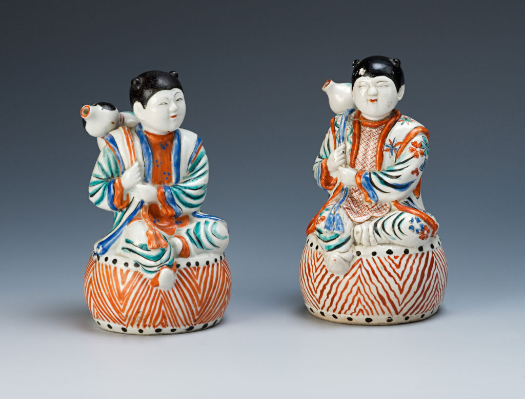A pair of figures of youths, Japanese, circa 1670/90.