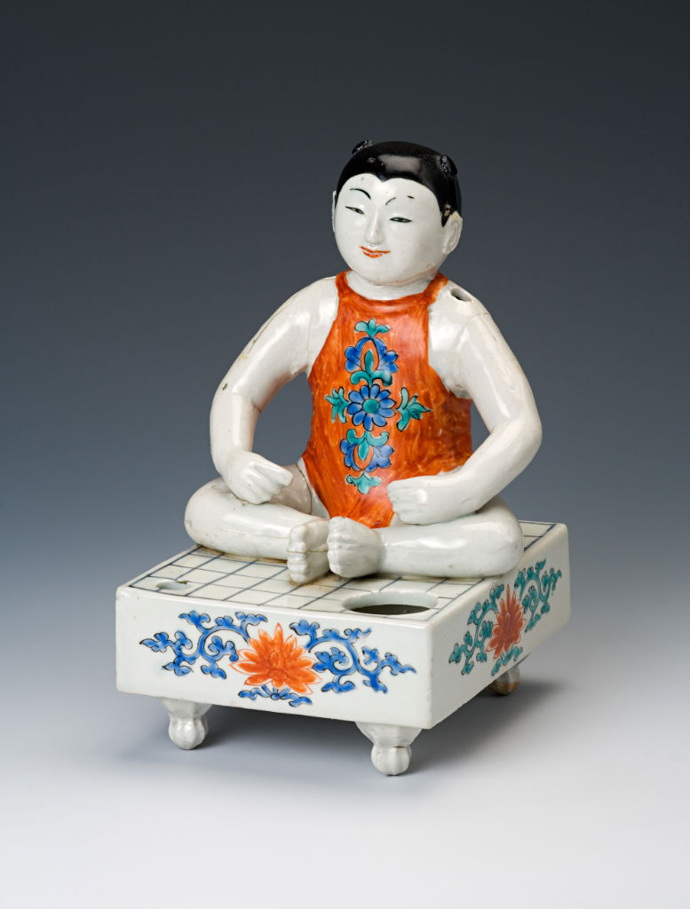 A figure of a boy, Japanese, 1670/90.