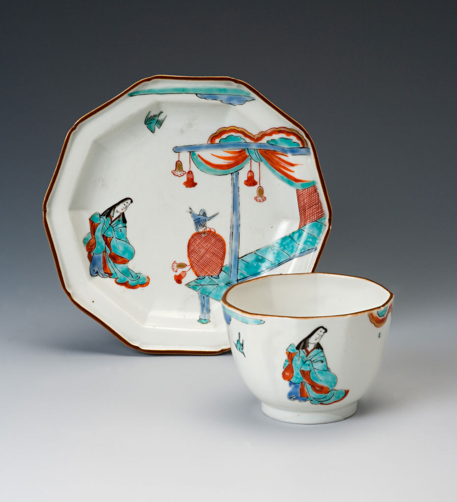 An octagonal teabowl and saucer, Japanese, circa 1700.