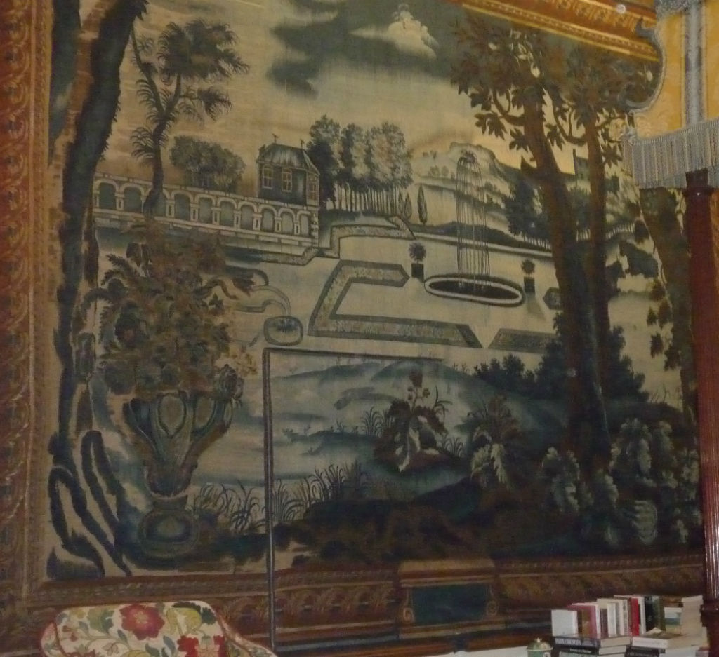 A section of the Blue and Silver Tapestries, attributed to John Vanderbank, London, circa 1685.
