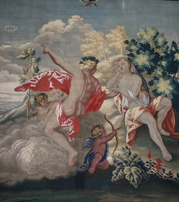 One of the Mortlake 'Bacchanals' Tapestries, London, circa 1678-1688.