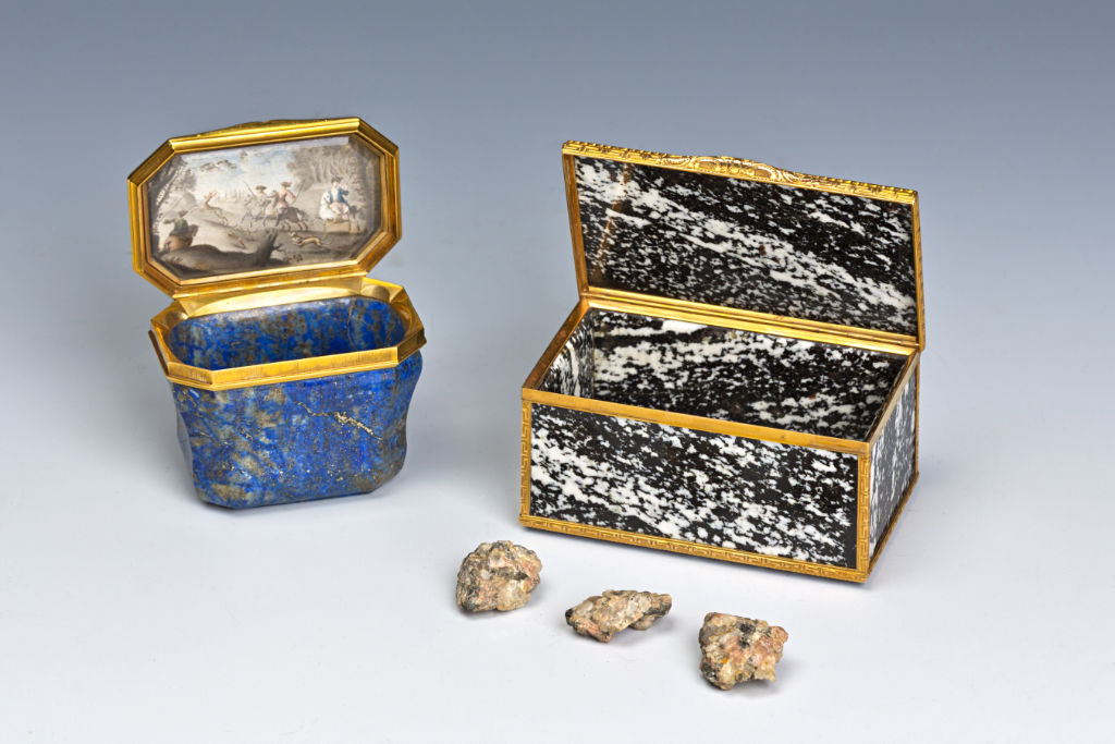 Two Hardstone Snuff Boxes, Italian, late 18th Century.