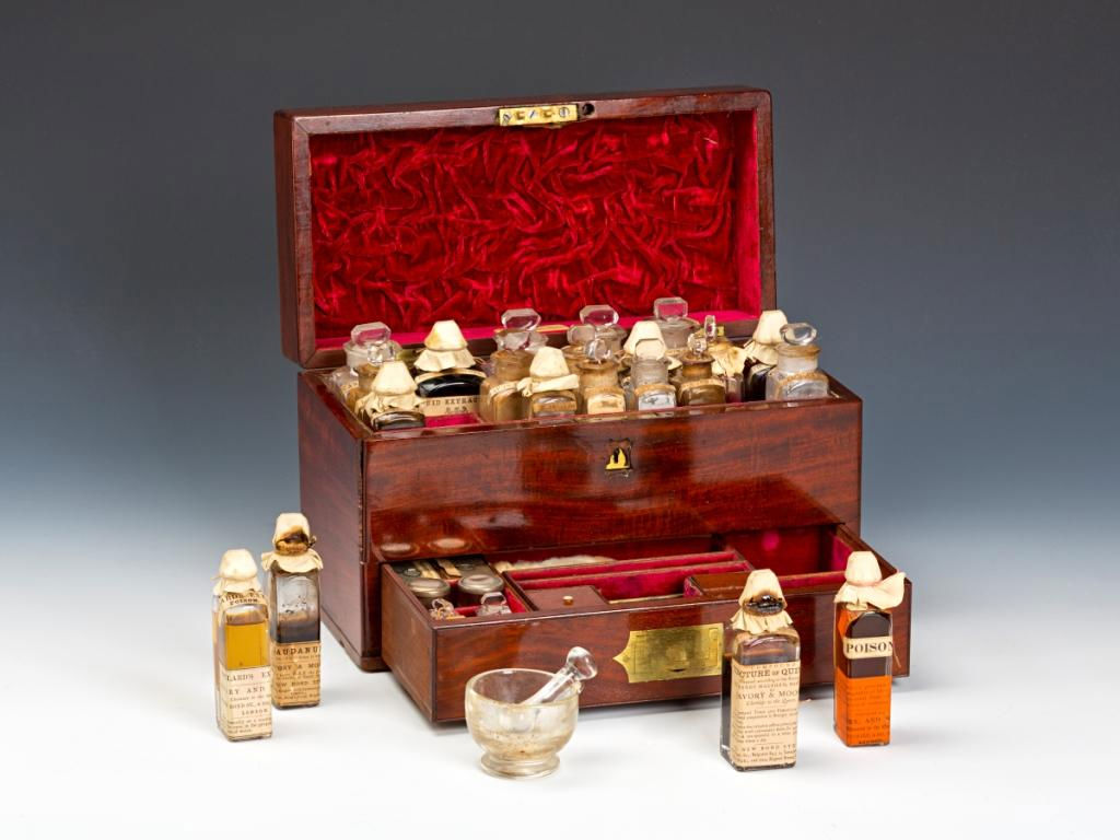A Savory & Moore Mahogany Medicine Chest, London, 19th Century.
