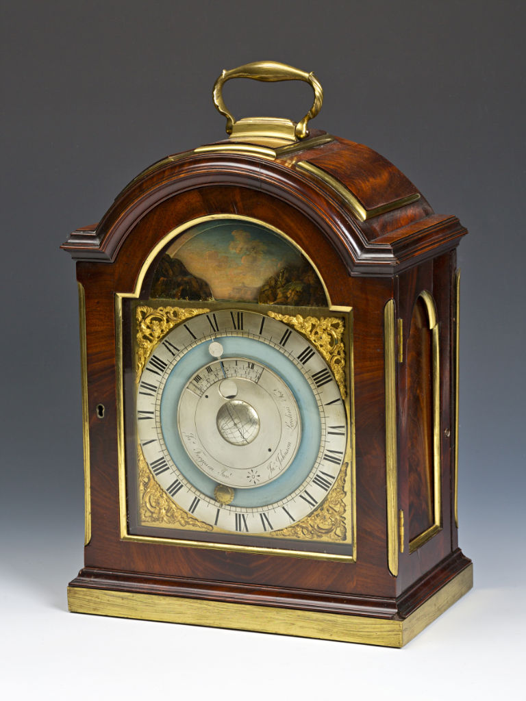 A Very Rare Tidal and Lunar Bracket Timepiece, c. 1775, by Johnson, London, after a design by James Ferguson.