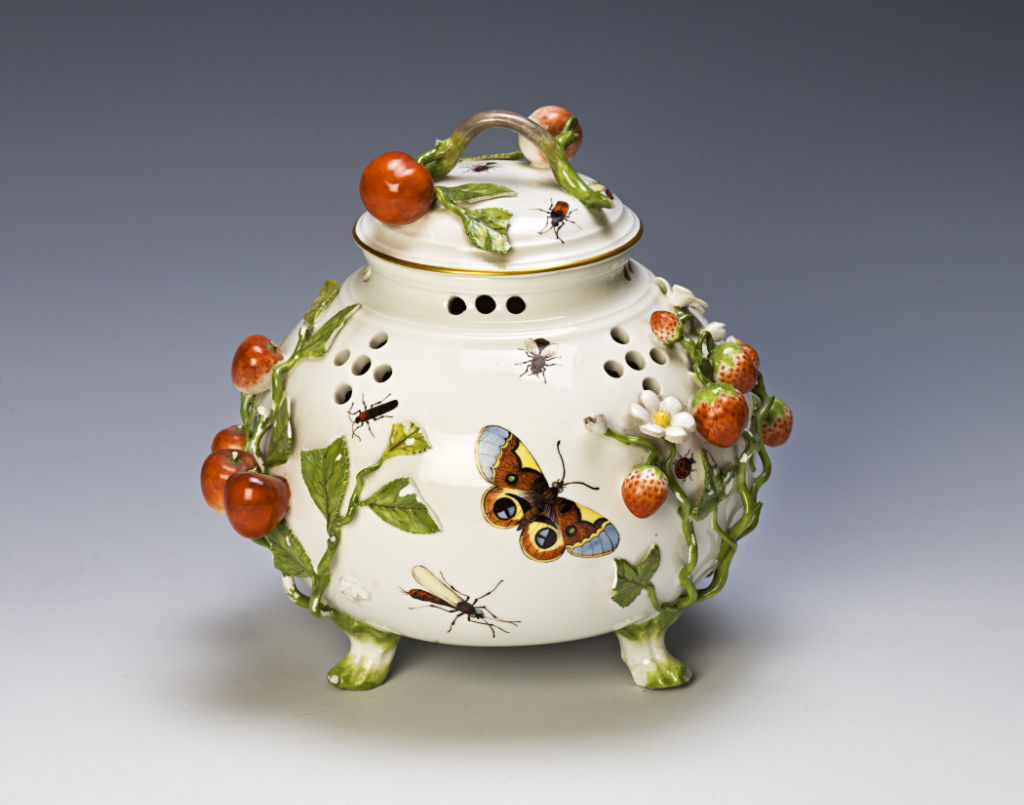 A Pair of Meissen Pot Pourri Jars and Covers, 18th Century.