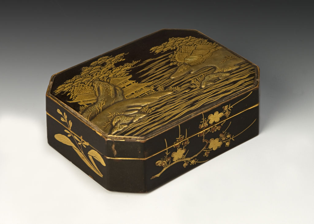 A box with canted corners, late 17th Century.