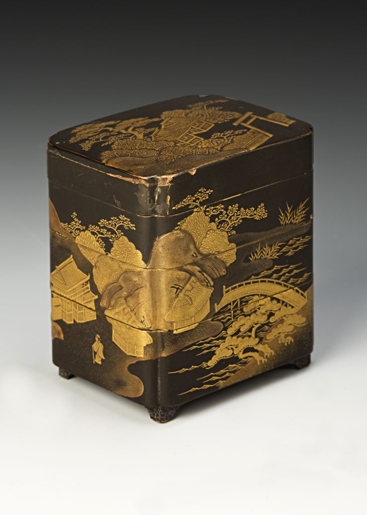 A pair of three-tiered boxes, late 17th Century.