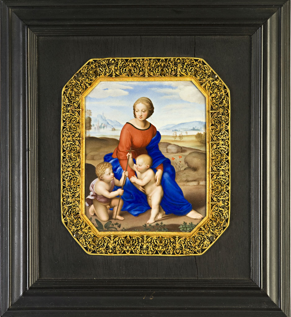 The Madonna del Prato, Blois School, circa 1670, after Raphael.