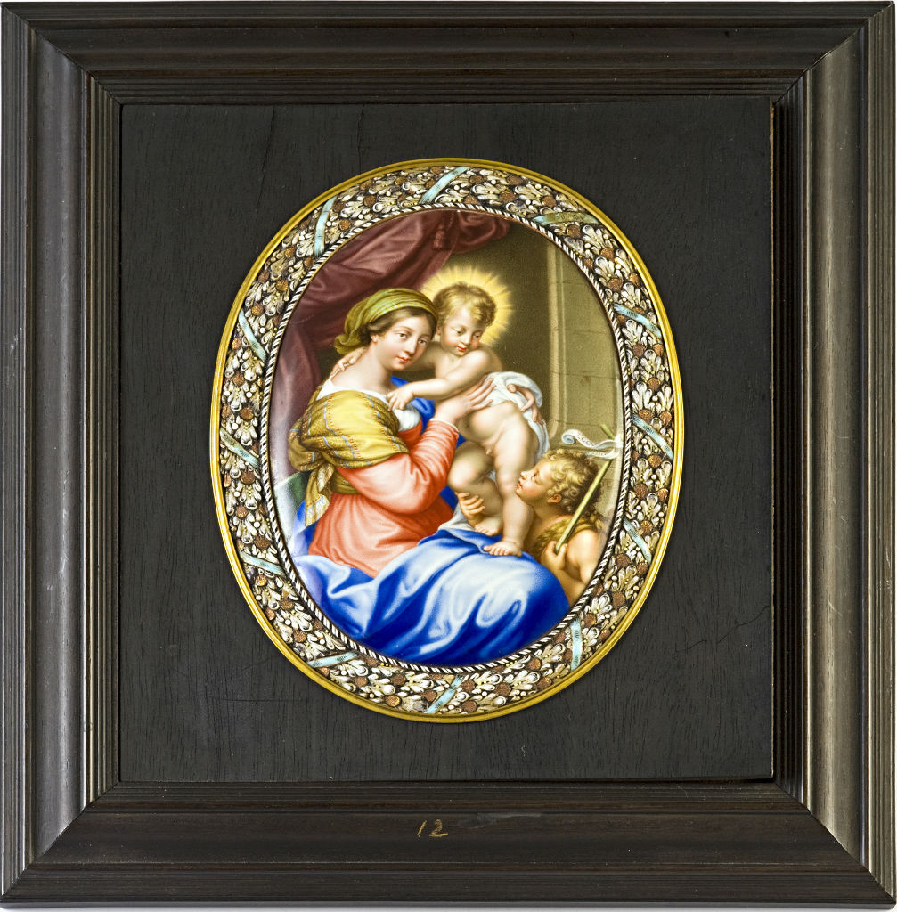 The Virgin, Child and St. John the Baptist, attributed to Jean Petitot, circa 1670.