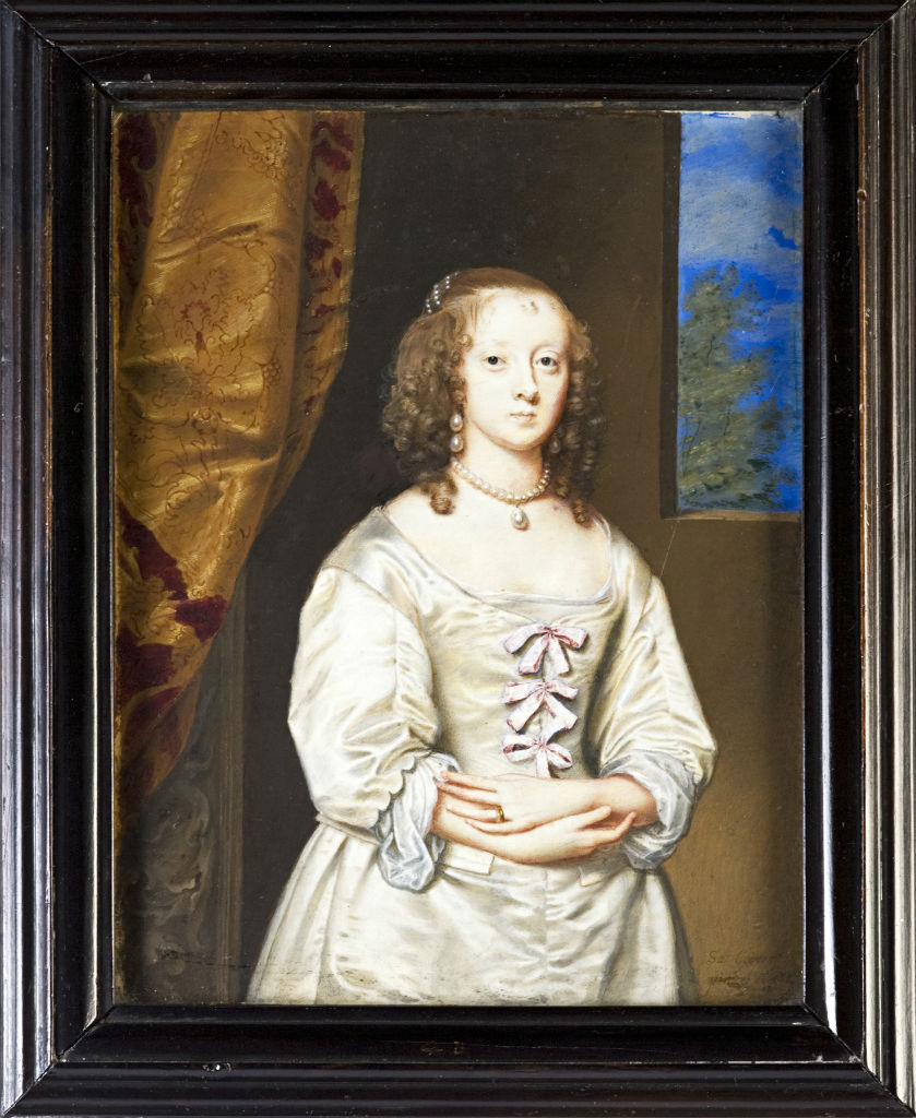 Elizabeth, Countess of Devonshire, nee Cecil, by Samuel Cooper, signed and dated 1642.