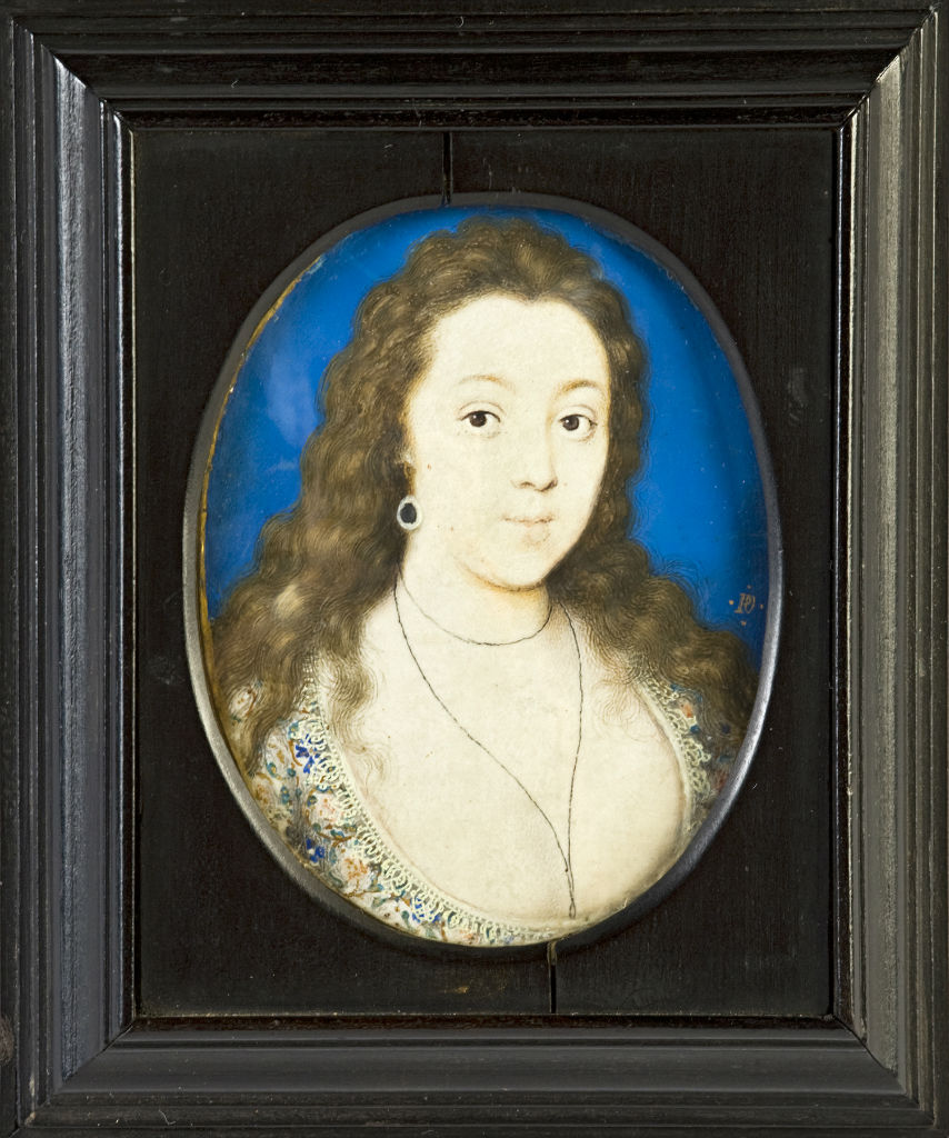 A Lady, called Venetia Stanley, by Peter Oliver, circa 1620.