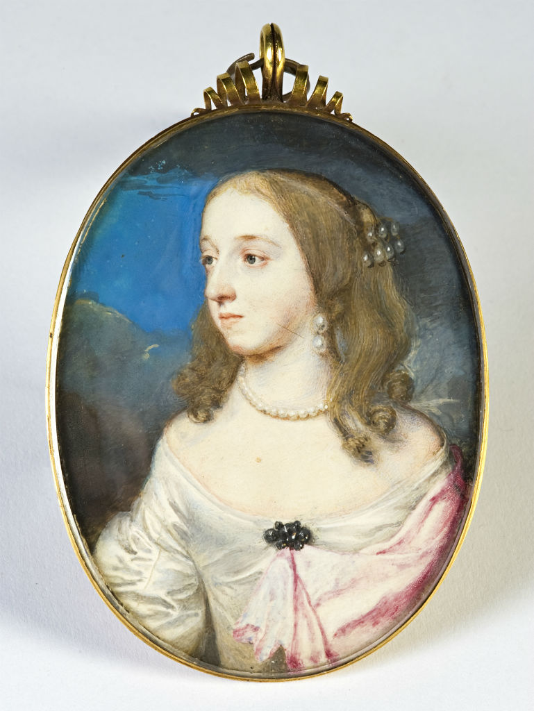 Frances, Countess of Exeter, nee Manners, by Samuel Cooper (1609-1672), circa 1646.